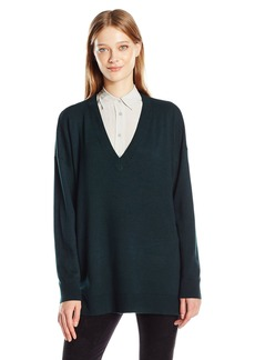 French Connection Women's Bambi Solid V-Neck  XS