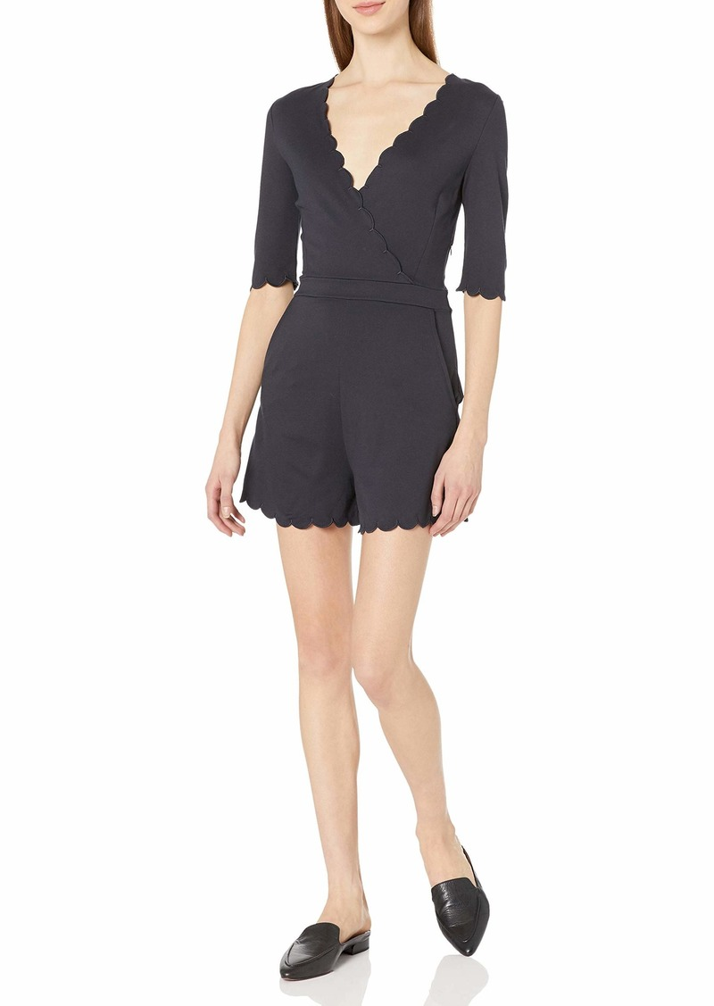French Connection Women's Beau Scallop Romper