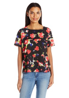 French Connection Women's Bella Crepe Light Top  L
