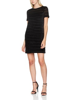 French Connection Women's Bernice Velvet Stripe Jersey Dress  M