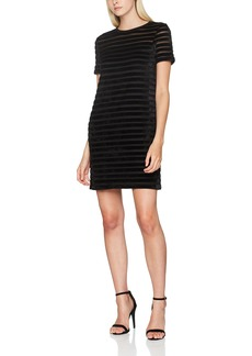 French Connection Women's Bernice Velvet Stripe Jersey Dress  S