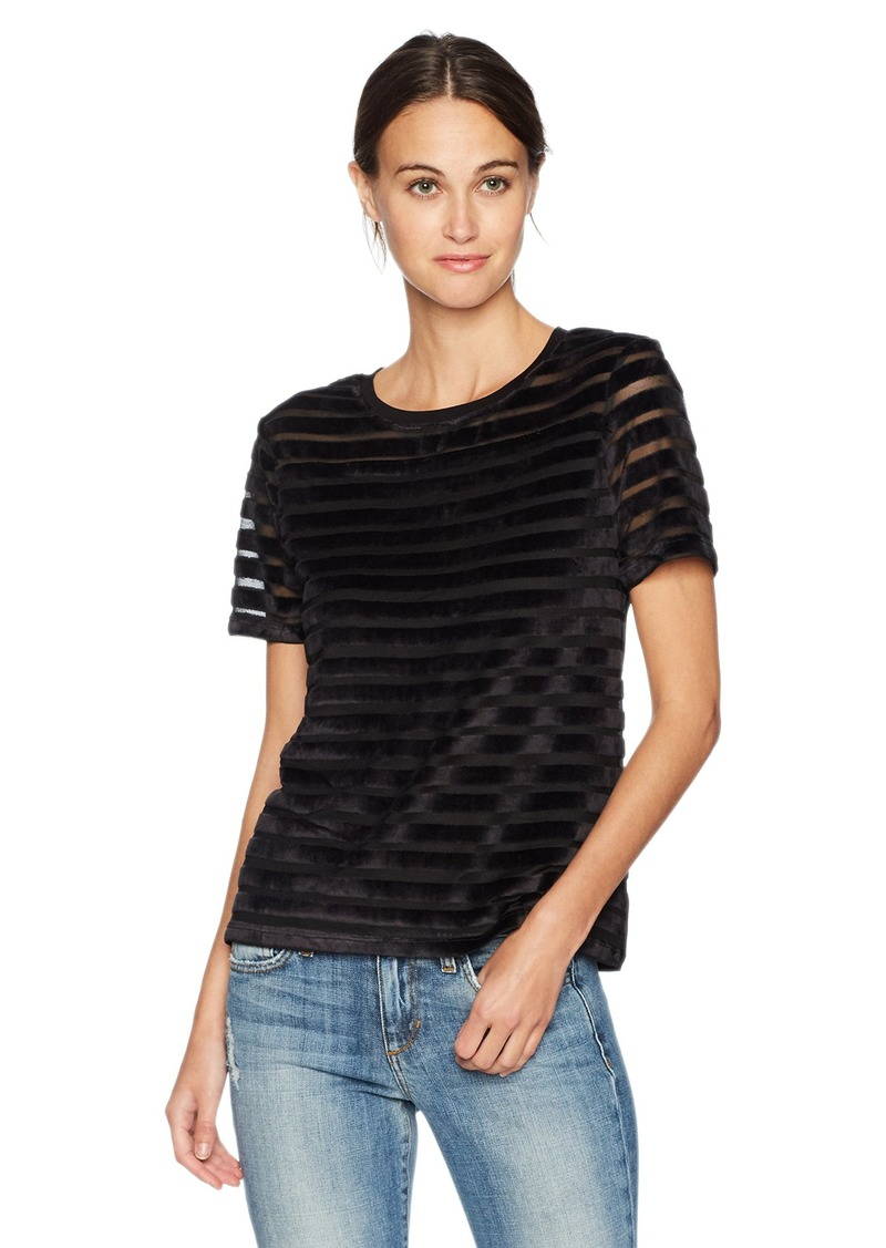 French Connection Women's Bernice Velvet Stripe Jersey Top  S