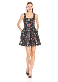 French Connection Women's Bluhm and Botero Mix Dress