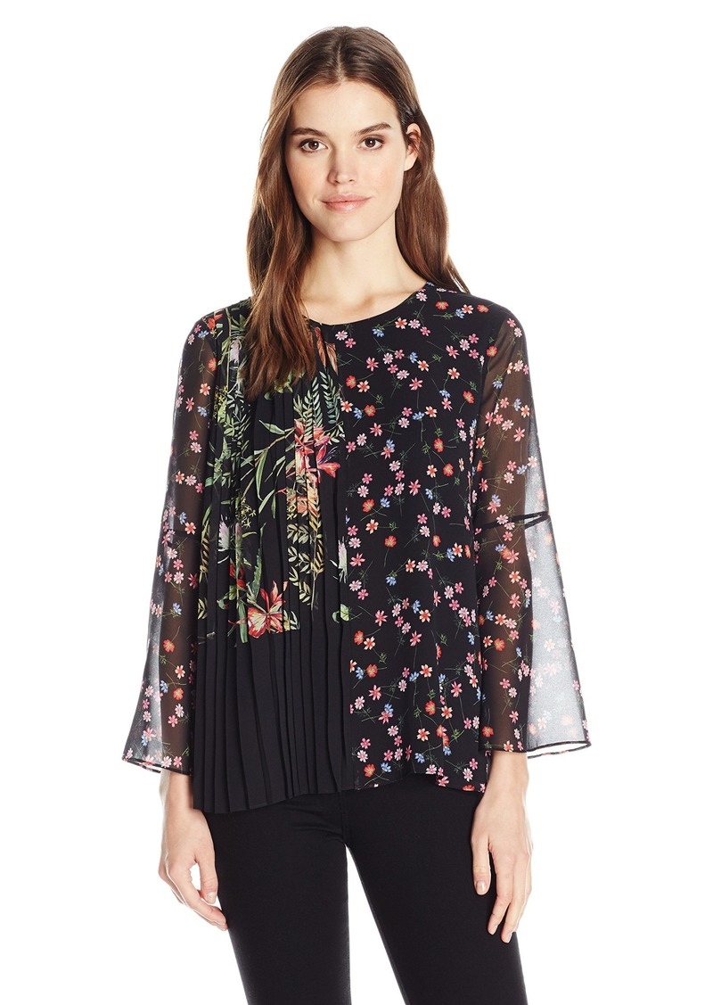 French Connection Women's Bluhm Bottero Sheer Top