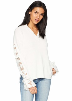 French Connection Women's Caballo Lace Flower Print Sweater  M