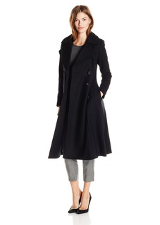 French Connection Women's Chic Fit and Flare Maxi Length Wool Coat
