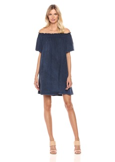 French Connection Women's Chisulo Smocking Jersey Dress  L