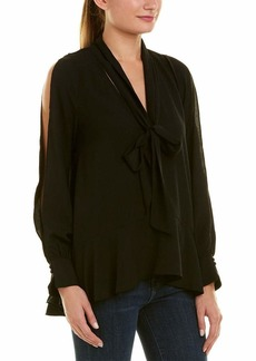 French Connection Women's Classic Crepe Light Woven Bow Top  M