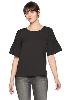 French Connection Women's Classic Crepe Short Sleeve Top  XS