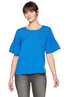 French Connection Women's Classic Crepe Short Sleeve top  S