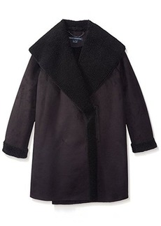 French Connection Women's Cocoon Faux Shearling Jacket