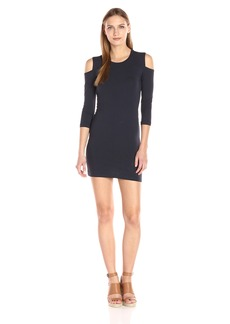 French Connection Women's Cold Shoulder Solid Jersey Dress