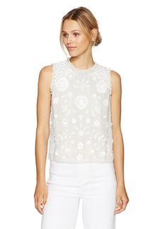 French Connection Women's Dalia Sheer Top Summer White