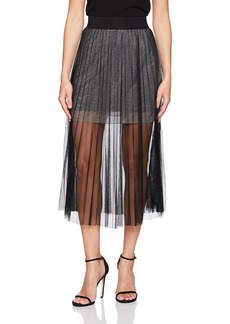 French Connection Women's Daphne Lurex Jersey Skirt