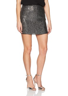 French Connection Women's Desiree Disco Sequin Mini Skirt