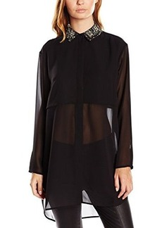 French Connection Women's Diamond Fringe Top