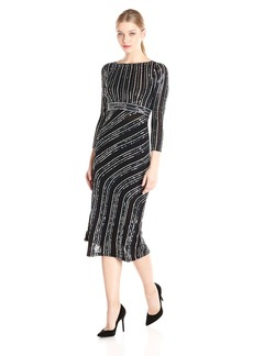 French Connection Women's Diana Swirl Long Sleeve Maxi Dress