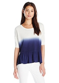 French Connection Women's Dip Dye Knits Short Sleeve Top