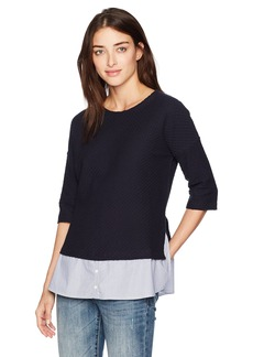French Connection Women's Dixie Texture Top  L