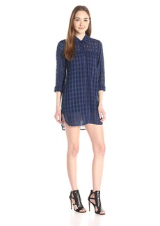 French Connection Women's Dobby Open Check Dress
