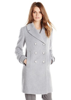 French Connection Women's Double Breasted Wool Boyfriend Coat