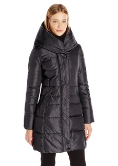 French Connection Women's Down Coat with Pillow Collar  XL