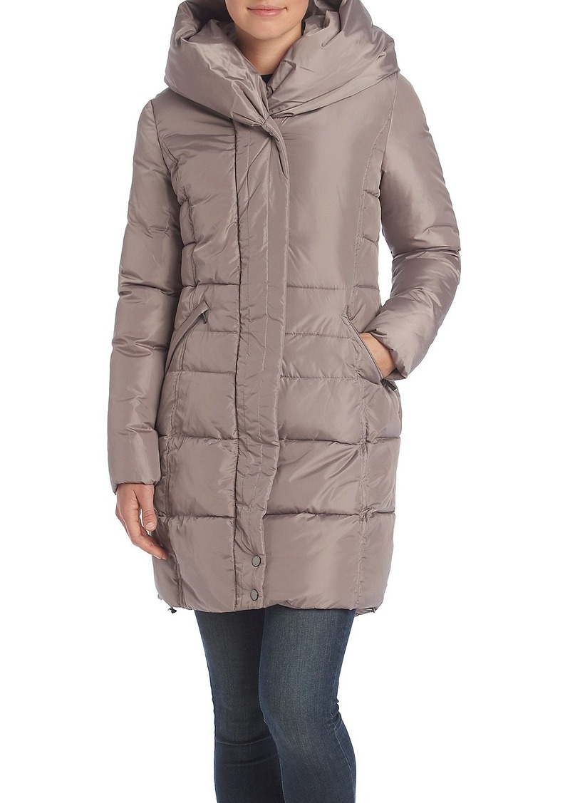 French Connection Women's Down Coat with Pillow Collar  XS