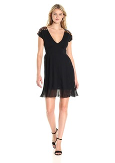 French Connection Women's Dumaka Beaded Jersey Dress