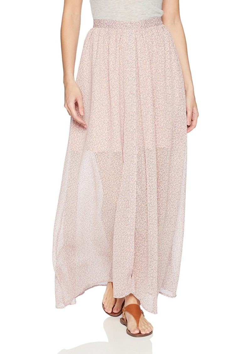 French Connection Women's Elao Maxi Sheer Floral Printed Skirt TEAGOWN Multi