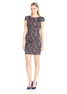 French Connection Women's Electric Leopard Short Sleeve Dress