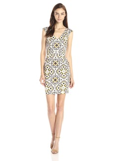 French Connection Women's Electric Mosaic Cotton Dress
