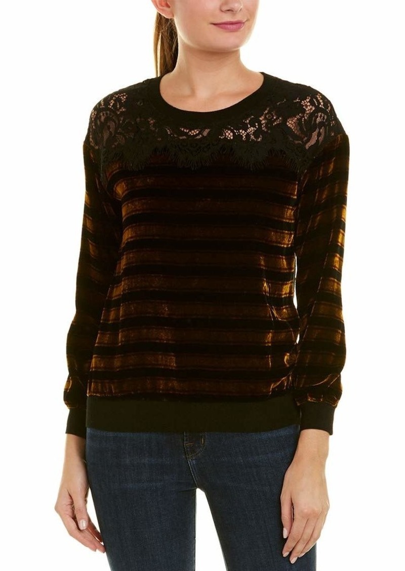 French Connection Women's Emma Stripe Sweatshirt Black/WILLOWSTRIPE