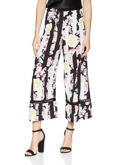 French Connection Women's Enoshima Suiting Floral Flowy Wide Leg Pants