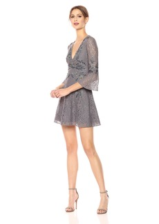 French Connection Women's Esme Shimmer Bell Sleeved Dress