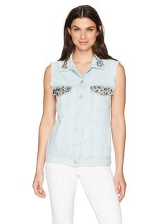 French Connection Women's Essien Denim Vest  M