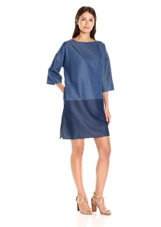 French Connection Women's Ethel Denim Tencel Dress  L