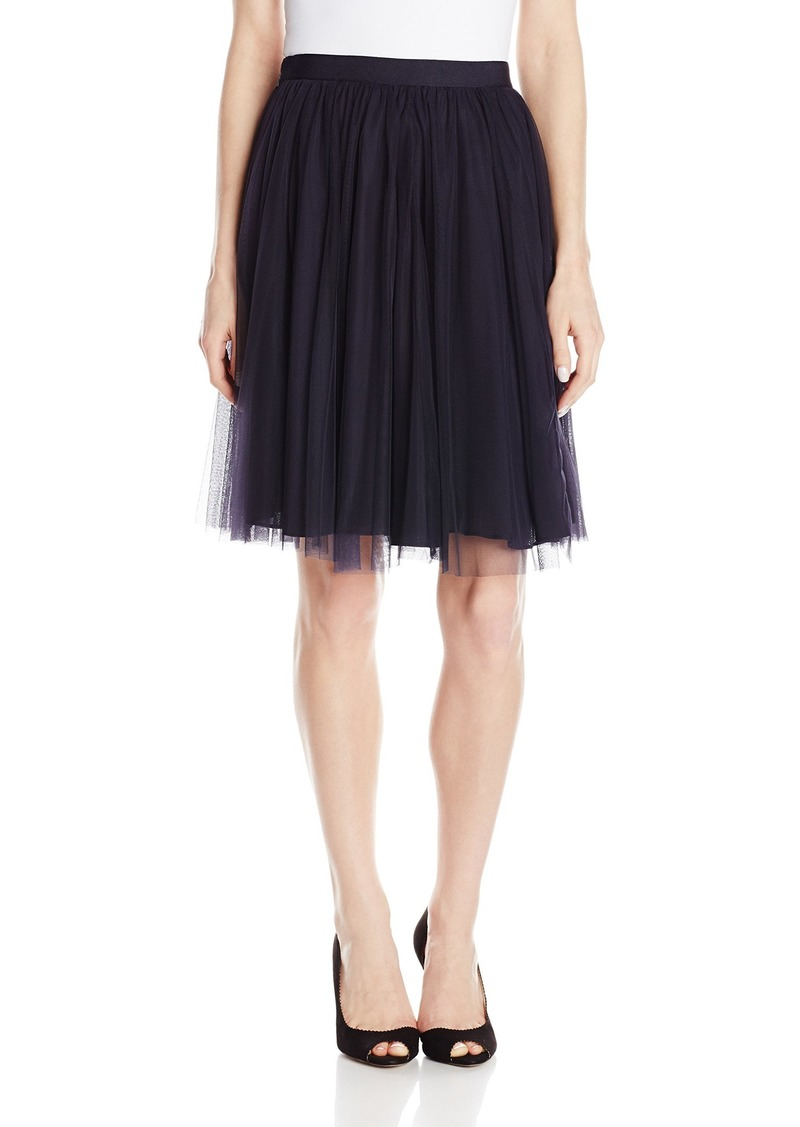 French Connection Women's Fast Angelica Tulle Skirt Utility Blue
