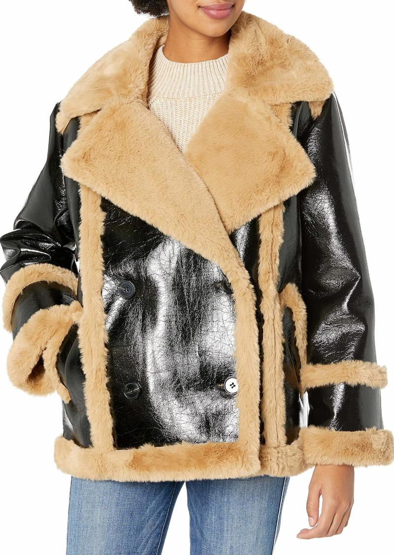 French Connection Women's Faux Fur Coat  M