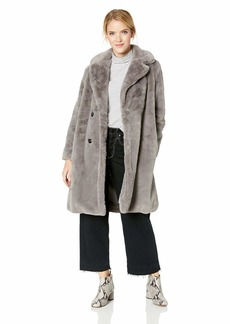 French Connection Women's Faux Fur Jackets dark camel S
