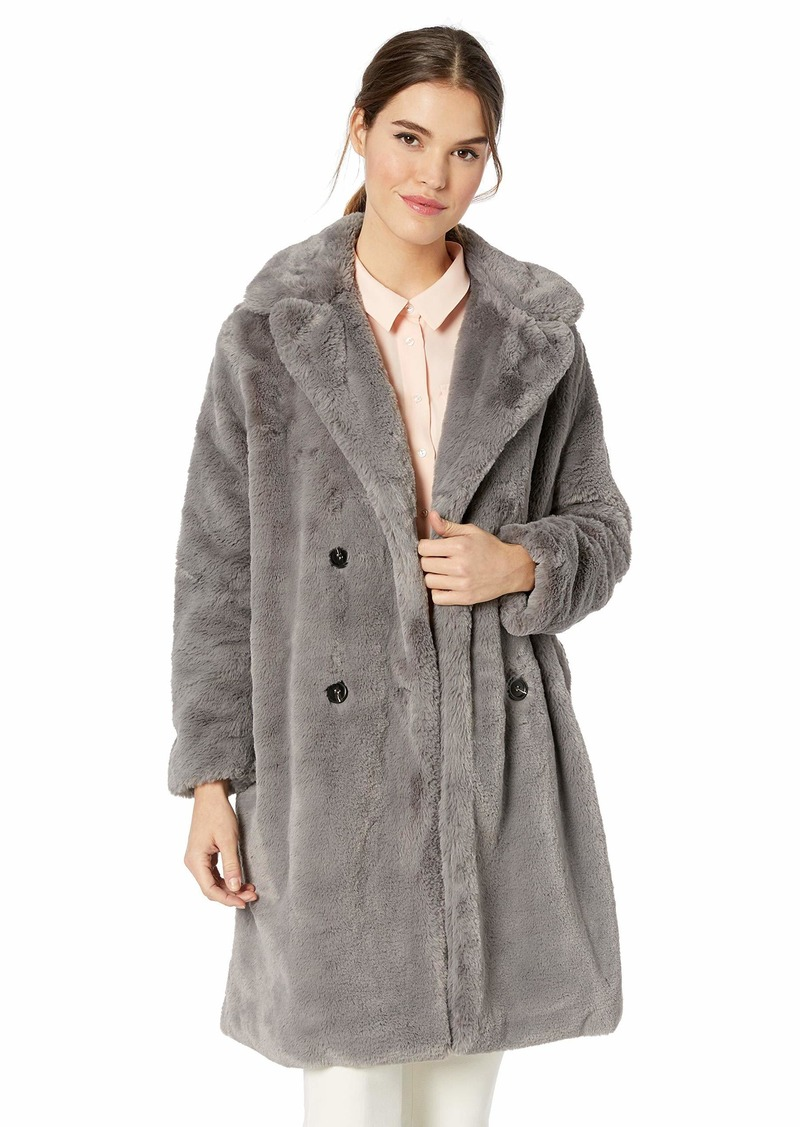 French Connection Women's Faux Fur Jackets moody grey L