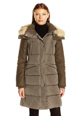 French Connection Women's Faux Wool Down Wind Coat  S