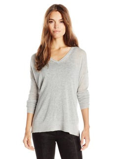 French Connection Women's Feather Light Knits V-Neck Sweater Grey Melange