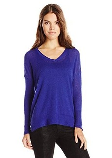 French Connection Women's Feather Light Knits V-Neck Sweater  Small