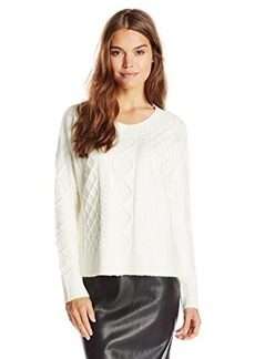 French Connection Women's Felted Cable Knits Sweater  Medium