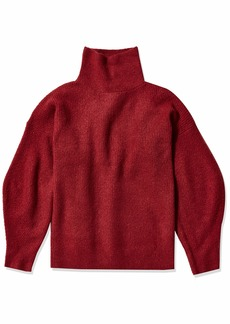 French Connection Women's Flossy Long Sleeve Loose Fit Solid Pullover Sweater  L