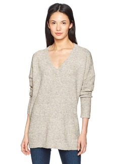 French Connection Women's Flossy Long Sleeve Loose Fit Solid Pullover Sweater  M