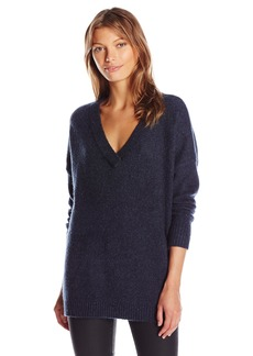 French Connection Women's Flossy Long Sleeve Loose Fit Solid Pullover Sweater  S