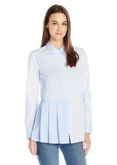 French Connection Women's ft Serge Stripe Button Down Top