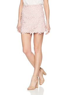 French Connection Women's Fulaga Floral Lace Overlay Mini Skirt