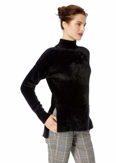 French Connection Women's Fuzzy Long Sleeve Pullover Knit Sweater  M